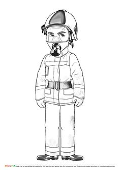#Free #Printable Coloring Pages for toddlers and preschoolers: #fireman. Click through to customize and download free color pages for kids as a FREE PDF https://www.moonagroup.com/tag/90.html #Fruits, #Berries, #Christmas and #Heroes