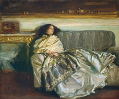 John Singer Sargent, 'Nonchaloir (Repose),' 1911, National Gallery of Art, Washington, D.C.