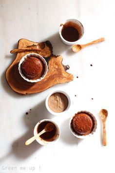 Crèmes au chocolat, châtaigne et noisette à la farine de pois chiche