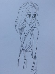 Sketch of a girl. By Yenthe Joline.