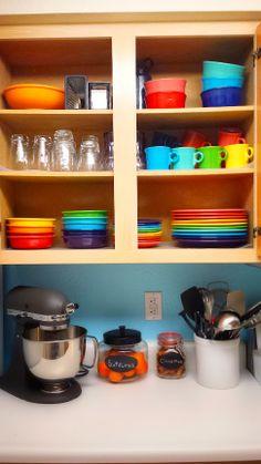 Rainbow kitchen in progress