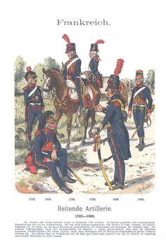 Band XVI #50.- Frankreich. Reitende Artillerie. 1792.- 1800.
