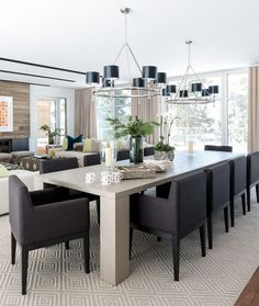 Modern House in Montreal, design, décor, interior, Canada, Quebec, house, cozy, dining room