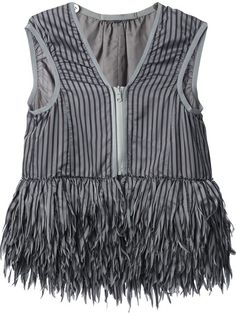 SACAI Fringed Top