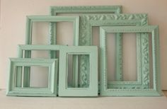 Aqua Paris Bedroom   ... Aqua Mint And Distressed Shabby Chic Country French Paris Gallery Wall