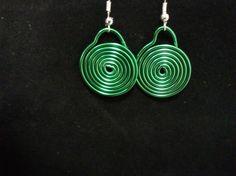 pendientes espiral verde Drop Earrings, Jewelry, Fashion, Spirals, Ear Jewelry, Green, Moda, Jewels, Fashion Styles