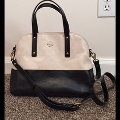 GORGEOUS Kate Spade purse Like new, literally used 3 times. Comes with detachable crossbody strap. Super clean inside and out. Leather and coated canvas kate spade Bags Satchels