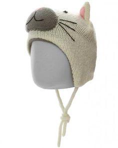 Strick-Mütze CATTY mit Innenfleece in offwhite