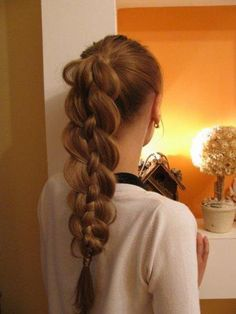 Unevenly pulled braid