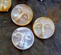 25mm Mutter der Perle Mond-Gesicht-Cabochon