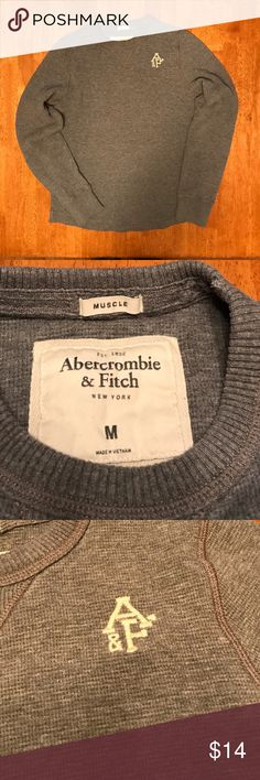 Abercrombie & Fitch Thermal Excellent used condition men's Abercrombie & Fitch long sleeve thermal, size medium. Muscle fit style. Heather gray waffle fabric. Super soft. Embroidered logo is without flaw. No stains or discolorations. Abercrombie & Fitch Shirts Tees - Long Sleeve