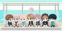 Read Bts from the story fanarts bts by (infires man) with reads. Bts Chibi, Bts E Got7, Bts And Exo, Kpop Fanart, Jung Kook, Bts Memes, Bts You Never Walk Alone, Bts Anime, Jin