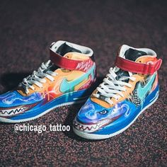 Nike Air Max 90 Blue Galaxy Style Painted Custom Shoes Sneaker Airbrush  Kicks rare schuhe  UNIKAT  handpainted shoes dripping swoosh f7b5ee0670a