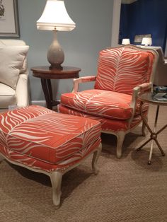 Pearson Furniture FAB orange animal print chair! #hpmkt
