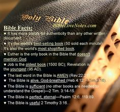For more Bible Facts go to this link on Bible Love Notes.