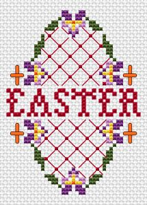 For Easter cross stitch pattern For Easter free cross stitch pattern. Cross Stitch Pillow, Cross Stitch Fabric, Counted Cross Stitch Patterns, Cross Stitch Designs, Cross Stitching, Cross Stitch Embroidery, Cross Stitch Beginner, Small Cross Stitch, Cross Stitch Needles