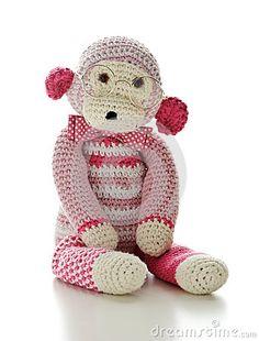 Crochet monkey by Claudia Paulussen, via Dreamstime