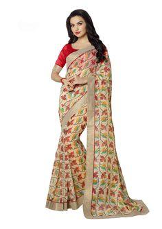 Latest Art Silk Multi Colour Casual Saree