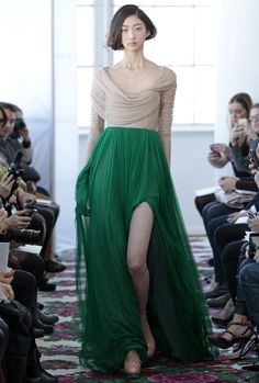 A beautiful fashion designer Jesus Del Pozo dress from his fall/winter 2013 collection  http://www.delpozo.com/collection/fashion/fallwinter-2013/