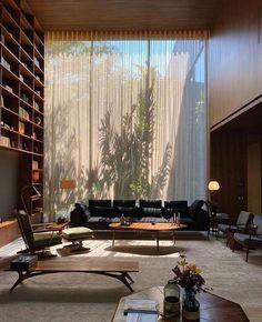 library by Brazilian architect Marcio Kogan . Dream Home Design, Home Interior Design, Interior Architecture, Dream Rooms, House Rooms, Room Decor, Interiors, Living Room, Living Spaces