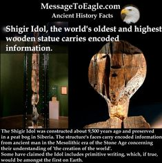Ancient History Facts - Shigir Idol, the world's oldest and highest wooden statue carries encoded information.