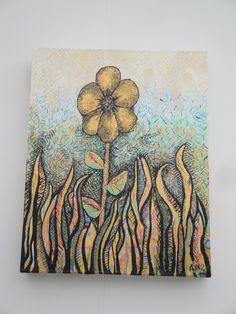 All alone - acrylic on canvas