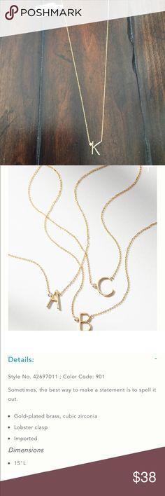 Anthropologi delicate monogram K letter necklace Anthropologi delicate monogram K letter necklace Anthropologie Jewelry Necklaces