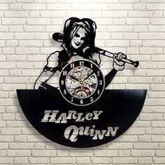 Harley Quinn Batman Arkham City Vinyl Record Clock