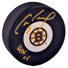 42e05658c54 Cam Neely Signed Boston Bruins Logo Puck with HOF 05 Inscription  #SportsMemorabilia #BostonBruins #
