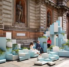 Unexpected Hill provides seating and climbing opportunities at the Royal Academy of Arts. Unexpected Hill provides seating and climbing opportunities at the Royal Academy of Arts. Installation Architecture, Landscape Architecture Design, Interior Architecture, Architecture Portfolio, Architecture Diagrams, Urban Furniture, Street Furniture, Handmade Furniture, Furniture Ideas