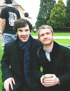 Benedict Cumberbatch and Martin Freeman.