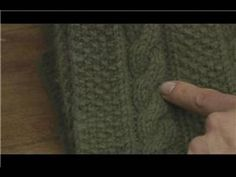 How to Knit : How to Knit a Cable Stitch - YouTube