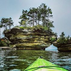 Turnip Rock, Port Austin, MI, photo by Seasons Photography | via Michigan in Pictures