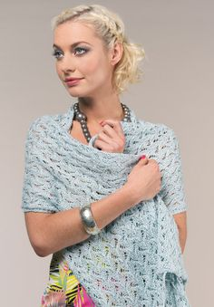 STITCH // Trina Summer lace wrap by Sian Brown - free knitting pattern