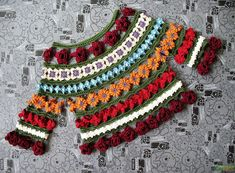 Crochet blouse - gipsy style - Japanese magazine Keito Dama 2009 - free diagrams