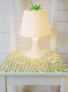 5.Enjoy in your new mosasic bedside table    @Katie Schmeltzer Marie  do you think we have enough sea glass for this?