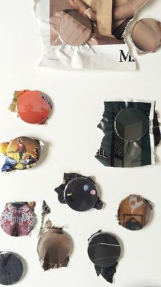 By Volker Atrops. The Vernacular Issue of Piece by Piece editions, Volker Atrops created a series of buttons containing snaps of fashion magazine spreads