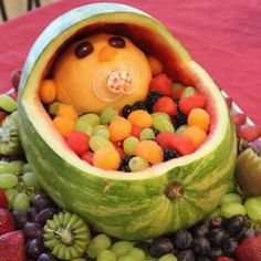 Creative baby shower centerpiece
