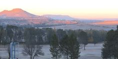 A frosty African morning - looking from my hotel in Lesotho