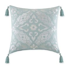 Echo Design™ Lagos Medallion Tassel Throw Pillow in Aqua