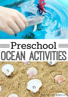 Ocean Theme Activities for Preschool. Fun hands-on learning activities for your preschool or kindergarten kids for an ocean or beach theme! - Pre-K Pages