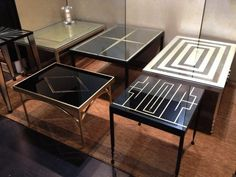 Painted Glass Tables by Biggs Art Studio — BKLYN Designs