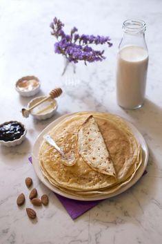 Photo de la recette : Pâte à crêpes au lait d'amandes – sans lactose