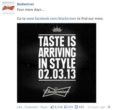 budweiser, facebook post, statement post
