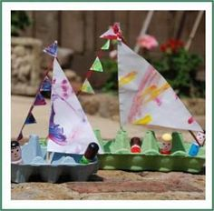Dozen Disciples Egg Carton Fishing Boat
