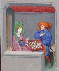 Medieval Games, Medieval Art, History Of Chess, Le Scribe, 15th Century Fashion, Medieval Clothing, Bnf, Gothic Architecture, Dark Ages