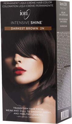 Ion Intensive Shine Hair Color Kit Darkest Brown 2n Hair Color Kit In 2021 Brown Hair Dye Hair Color Light Brown Hair Color