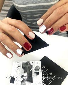 How to choose your fake nails? - My Nails Burgundy Nail Designs, Burgundy Nails, Winter Nail Designs, Nail Art Designs, Cute Nails, Pretty Nails, Hair And Nails, My Nails, Uñas Fashion