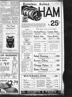 1920's A&P ad