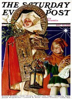Medieval Merry Christmas by J. C. Leyendecker,  Dec. 25, 1926, Saturday Evening Post.